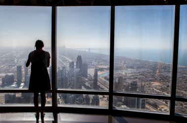 Observation deck in Burj Khalifa